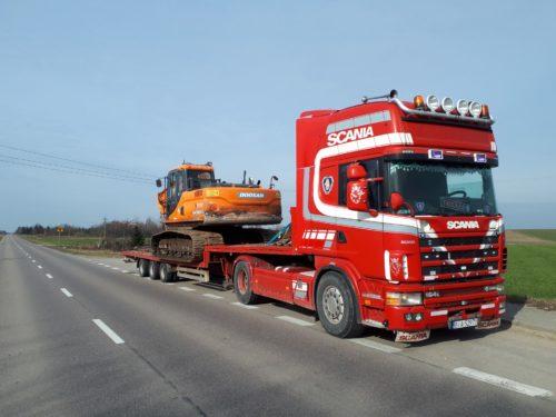 Ciężki transport KatmirBis roboty ziemne Dobrzyniewo